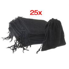 25X schwarz Schmuck Beutel Geschenk Säckchen Samtbeutel GY
