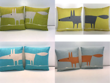 """Scion Mr.Fox cushion covers 4 colourways.You Will Recieve 2 No. 12"""" doublesided"""