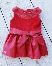 American Girl Red Joyful Gems Holiday Dress Christmas Velvet Taffeta EUC Retired