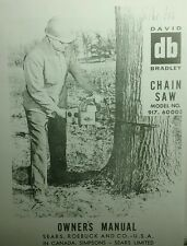 David Bradley db Direct Drive 3hp Chain Saw Owner & Parts Manual 28pg 917.60003