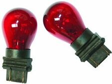 2x RED 3157 Bright Light Bulbs Car Tail Signal Turn Brake Miniature Lamp Stop