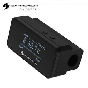 BarrowCH G1/4  OLED Display Heat Sensor Alarm with Intelligent Shutdown - Black
