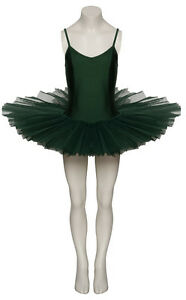 Girls Ladies Forest Green Ballet Dance Halloween Costume Tutu Outfit By Katz