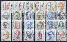 31 x Bund 1955,1956,1397,1614,2014,1940..postfrisch alle Frauen der DM Zeit BRD