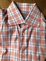 BRIONI for Neiman Marcus Check Shirt Size L Long Sleeve Cotton Made in Italy