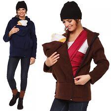 Happy Mama. Women's Maternity Fleece Hoodie Duo Top Carrier Baby Holder. 031p