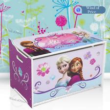 Kids Storage Box Set Bench Seat Wooden For Children Toy Princess Room Girls Pink