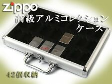 Zippo Storage Aluminium Collection Display Box Case Matsudaya 42 pcs japan F/S
