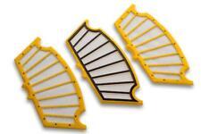 3x Filtre Set Jaune pour iRobot Roomba 500, 510, 520, 530, 531, 532