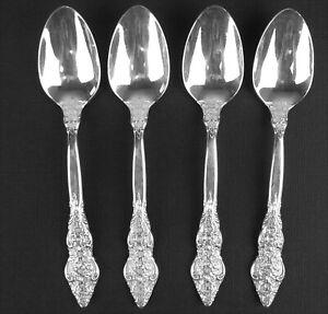 Set 4 x Demitasse Spoons 1847 Rogers Silver Renaissance 1971 vintage silverplate