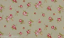 """1.3m/52"""" ROUND wipeable wipe clean oilcloth pvc rosebud sage green TABLECLOTH CO"""