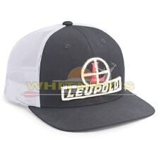 Leupold White/Charcoal Trucker Cap with Snap Back Adjustment Curve Brim
