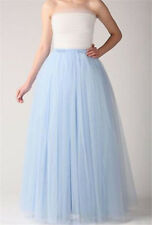 "6 Layer 39"" Maxi Women's Tulle Skirts Long Celebrity Skirt Ball Gown Plus Size"