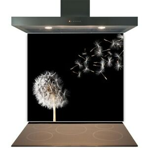 Kitchen Glass Splashback Toughened Tile Cooker Panel Any Size Blowing Dandelions