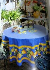"""Nwt French Provencal Cotton 71"""" Round Tablecloth Tissus Toselli - Made In France"""