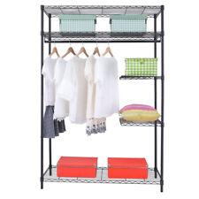 Heavy-Duty Wire Shelving Garment Rack Clothes Cabinet Closet Storage Organizer