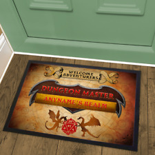 Dungeon Master Personalised Welcome Mat Doormat Based on Dungeons & Dragons