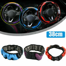 38cm/15'' Universal Car Microfiber Leather Steering Wheel Cover Car Accessories