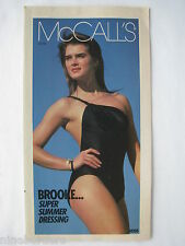 Vintage 1980's - BROOKE SHIELDS in Jun 1983 McCall's brochure, VG COND.