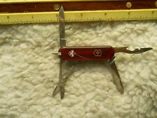 Victorinox BSA Manager Swiss Army knife in translucent ruby - working pen