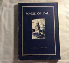 Songs of Yale 1934 Song Book Vintage Memorabilia University 1930s