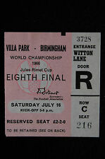 TICKET 1966 WORLD CUP  16/07/1966  ARGENTINA V WEST GERMANY