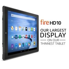 Amazon KINDLE Fire HD 10 NEWEST MODEL 32GB, WiFi 10 Inch Black LIFETIME WARRANTY