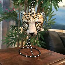 Slavic Treasures - Retired Glass Ornament - Large Cheetah - 1999