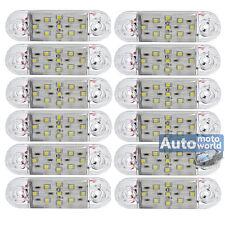 12x Weiss 9 LED Seitenleuchte Begrenzungsleuchte Umrissleuchte LKW 12 24V- A12w