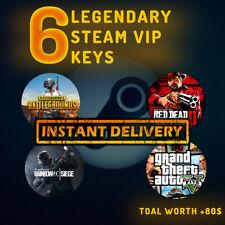 6 LEGENDARY VIP RANDOM STEAM GAMES KEY REGION FREE WORTH +80$