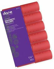 Diane Magnetic Hair Roller, Red, 1 1/2 Inch