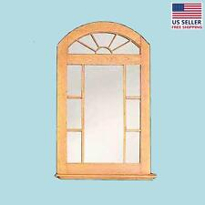 "Mirror Unfinished Pine Windowpane Arch Kit 39"" H 