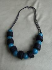 """Bead 22"""" Rope Chain Necklace 2/3 Stunning New Turquoise Blue Black"""