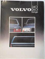 VOLVO 200 SERIES orig 1983 UK Mkt Sales Brochure - 240 260