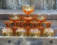 Vtg. Franciscan Cabaret Persimmon Amber Marigold Champagne / Sherbet Set of 8