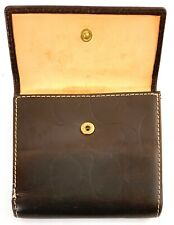 "Genuine Coach Brown Leather 4"" Bifold Wallet"