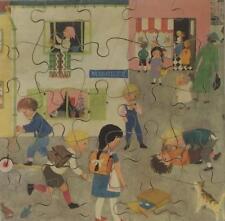 'OUR STREET' VINTAGE 1950's-1960's CHILDREN'S WOODEN JIGSAW PUZZLE - ABBATT TOYS