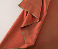 "Orange Silk from India. Iridescent. Light, 44"" Wide Elegant Fabric. 1 Yard."