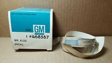 GM #468568 Decal NOS