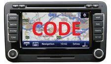RNS510 Radio Code Unlock Service - RNS315 Unlock Decode Pin