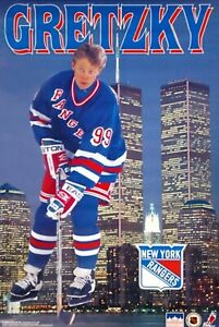 Poster Wayne Gretzky NY Skyline WTC NEW NY World Trade Center 1996