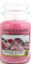 Yankee Candle SUMMER SCOOP  22 oz. Jar Candle NEW Retired