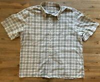 Mens Burberry Shirt Nova Check Green Blue Stripes Classic Fit 100% Cotton XXL