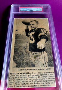 VINTAGE Bart Starr Signed Newspaper Photo - PSA/DNA Authentic - PACKERS