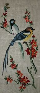 """Birds of a Feather"" - Preworked Needlepoint"