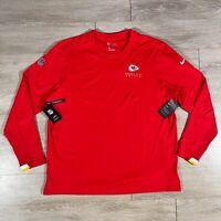 Nike NFL On Field Apparel Kansas City Chiefs Long Sleeve Thermal AO3994 Mens 2XL