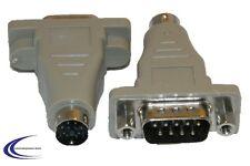 PS/2 Stecker auf 9 polig SUB D Stecker seriell RS232 - PS2 Maus Adapter