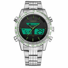 OHSEN Mens Sport 12/24 Hours Digital Analog Alarm Date/Day Military Quartz Watch