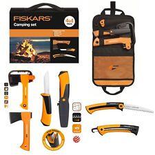 Fiskars 4in1 Camping Set Axt X5 , Handsäge SW73 , Hardware Messer + Tool Tasche