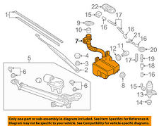 VW VOLKSWAGEN OEM Golf Wiper Washer-Windshield Fluid-Reservoir Tank 5GM955453A